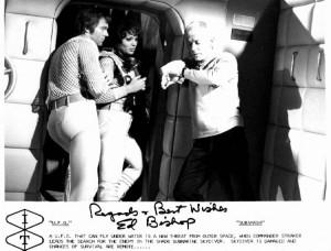 "Эд Бишоп (Cmdr. Straker, ""UFO"") - характер по автографу"