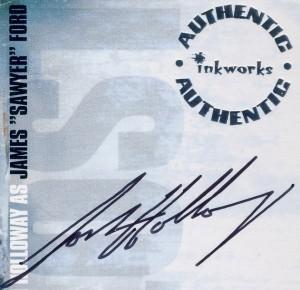 """Josh Holloway (Джеймс """"Сойер"""" Форд, """"Lost"""") - поддельный автограф"""
