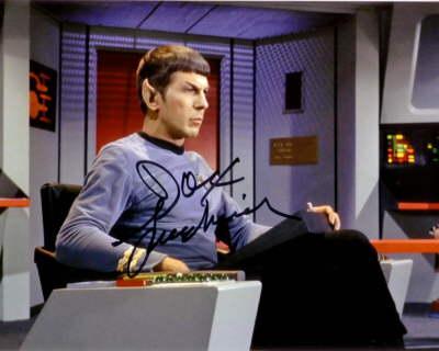 "Спок (Leonard Nimoy, ""Star Trek"") - характер по автографу"