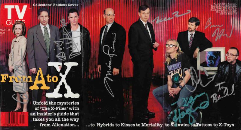 """актеры сериала """"X-Files"""" (""""Секретные Материалы"""") - характеры по автографам"""