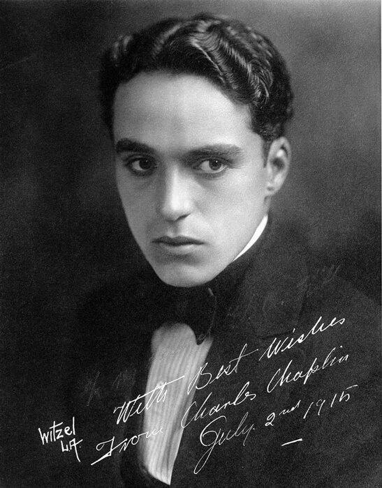 Чарли Чаплин - автограф 1915 г.