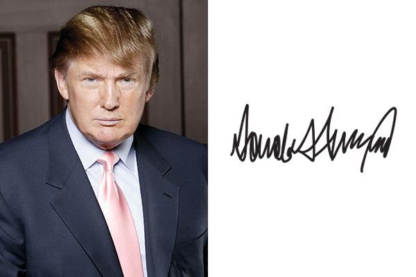 Дональд Трамп - характер по почерку